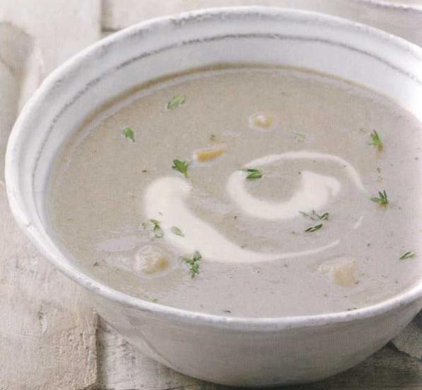 Супа пиле с гъби