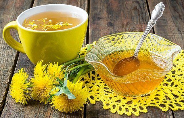 Чай от глухарче с мед