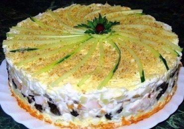 Ето това е салата-торта за празнична трапеза!