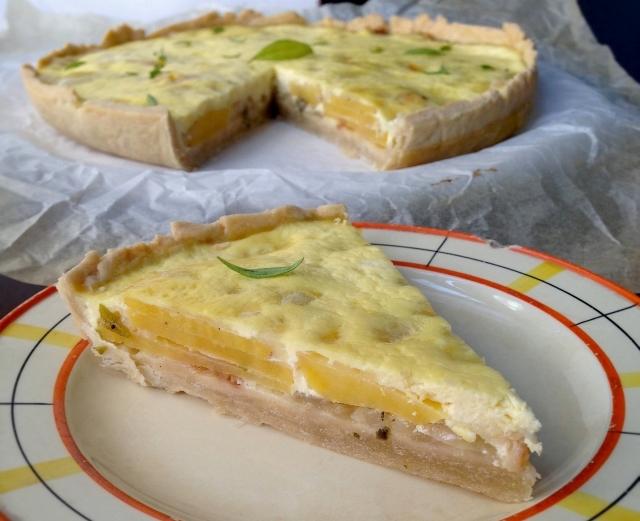 Киш с картофи, яйца, сирене и пресен лук – чудесно пролетно ястие (пирог, тарт, пай)