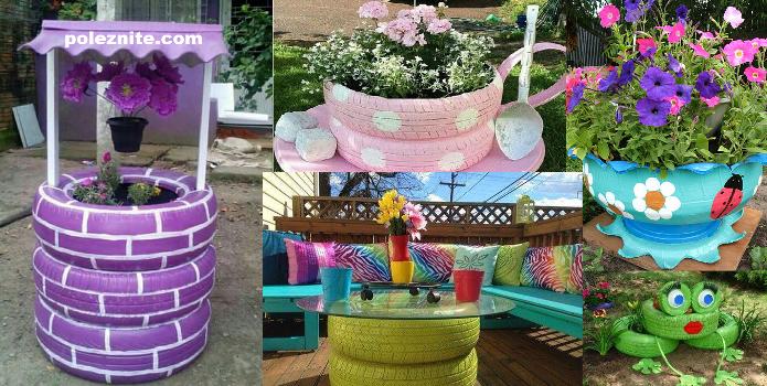 16 прекрасни идеи за използване на стари автомобилни гуми в градината за тези, които обичат творчески занимания! (снимки)