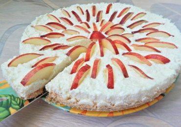 Тарт без печене с извара и нектарини – разкошен десерт – подробна рецепта със снимки