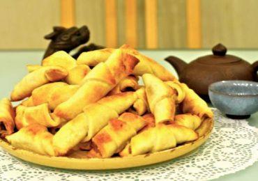 Рогалики със сметана и орехи – очарователни домашни сладки – подробна рецепта със снимки