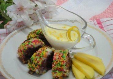 Руло Тропикана със сметанов сос – чудесна идея за шарен и вкусен десерт – вижте как се прави подробно със снимки