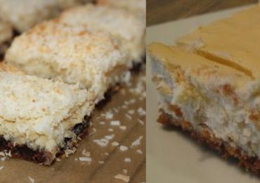 Сладкиш с шоколадова основа и кокосови стърготини – лесен и чудесен