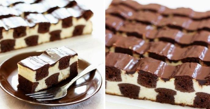 Шахматна торта – вижте как се прави тази красива вкусотия подробно със снимки